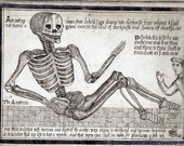 Digital Image Reclining Man Skeleton Instant Download Halloween Goth Spooky  You Print Digital Image