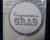 Great New Bravissimo Embellishment - Sentiment on Glittery Cardstock Medallion - Congratulations Grad - from Making Memories - FREE SHIPPING