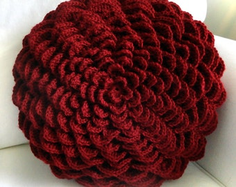Round Flower Pillow Cover - PDF Crochet Pattern - Instant Download