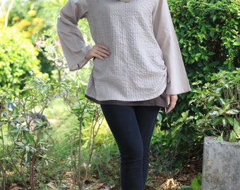 SALE 28 USD--B154--My love by my side ( Cotton blouse)
