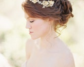 Floral Bridal Hair comb with Crystals Wedding Headpiece- Style 208