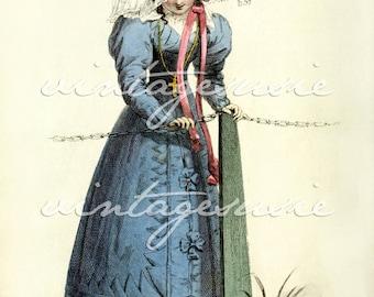 ACKERMANN Regency Fashion Plate Print COLLAGE SHEET 1827 Print 33 Digital Download Jane Austen