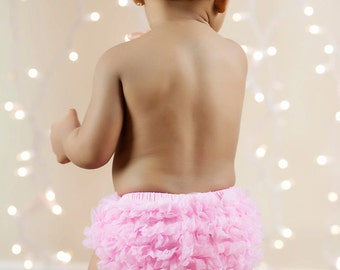 PINK BLOOMERS, Baby Girl Bloomer, Ruffle Bum Bloomer, Ruffle Bottom Bloomer. Newborn Bloomer, Bloomers, Ruffle diaper cover, ready to ship