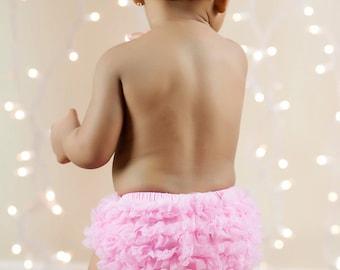 PINK BLOOMERS, Baby Girl Bloomer, Ruffle Bum Bloomer, Ruffle Bottom Bloomer. Newborn Bloomer, Bloomers, Ruffle diaper cover, ready to ship
