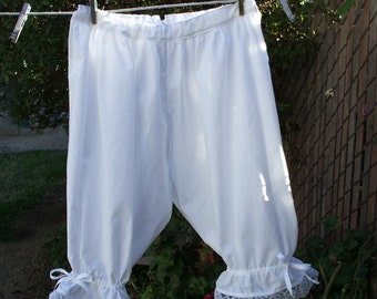 Womens BLOOMERS Civil War Crotchless XS - XLg Cotton Pantaloons Custom Made