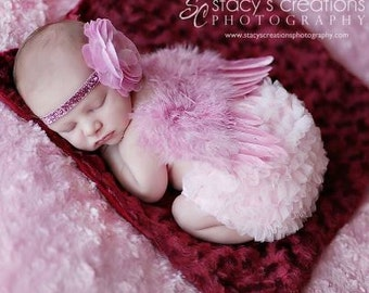 Black Friday cyber monday Chicaboo Dusty pink angel wings Deal. Baby Angel wings. newborn butterfly wings. newborn photo prop