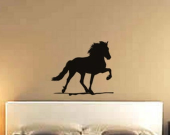 Horse decal-Horse sticker-Icelandic horse-Wall decal-Western wall decor-Dorm room decal-24 X 28 inches,