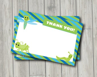 Bugs Thank You Note - Bug Thank You Card - Digital Printable Thank You - Going Buggy Theme