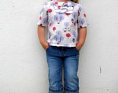 Custom Boutique Hello Kitty Blouse Top Ages 3 - 6