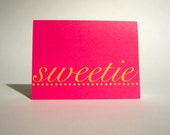 I Love You Greeting Card - Valentines Day Sweetie Folded Card  - Anniversary Folded Note - Happy Valentine's Day - Blank Notecard