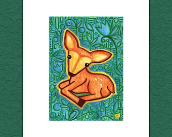 Fawn in Flora 5x7 Limited Edition Print
