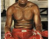 JEREMY WORST GOAT Muhammad Ali Original Painting Artwork Art