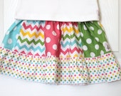 Polka Dot and Chevron Ruffle Skirt...Ready for Delivery...Available in Size 18m, 2, 4, 6 and 8 From Corina's Closet