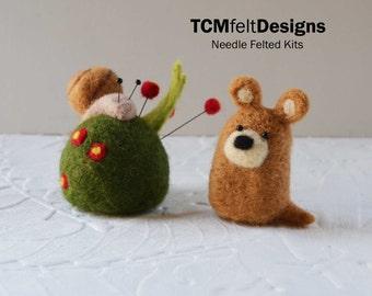 Needle Felted Art and DIY Needle Felting Kits by