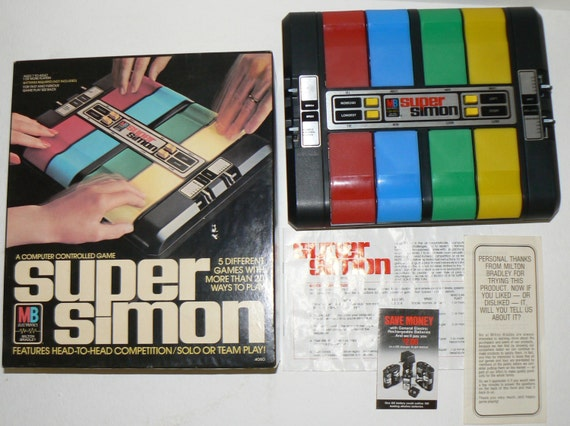 1979 Super Simon Head to Head Solo & Team Play Electronic Game Mint in Box WORKS