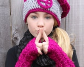 Cute Gloves Tween Girls Clothes Crochet Texting Mittens Raspberry Pink Sparkle Texting Gloves Fingerless Gloves Cute Gloves for Tween Girls