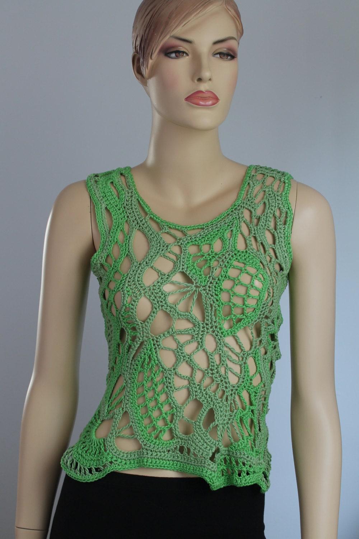 Crochet top PATTERN, casual crochet tunic pdf, crochet ... |Thread Crochet Top
