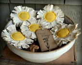 Daisy Bowl Fillers Rustic Flower Decorations Floral Primtive Summer Stash Abouts