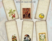 Digital Hang Tags Digital Collage Sheet Vintage Fruit and Vegetable Hang Tags For Gift Tags Scrapbooking Mixed Media Six Designs PDF File