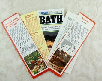 Paper ephemera pack, 23 pages from vintage travel guides, the English West Country 1970s, Cornwall, Devon and Bath.