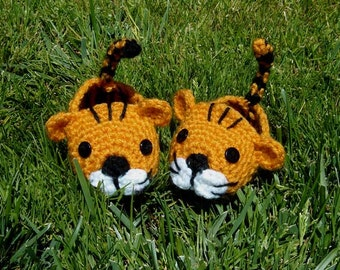 Baby Boy Tiger Booties, Photo prop - INSTANT DOWNLOAD Crochet Pattern
