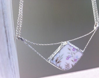 Broken China Necklace
