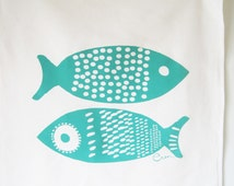 Tea Towel Double Tuna in our Teal OR another color of your choice