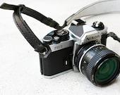 Black Premium Camera Neck Strap (RING) - made to order