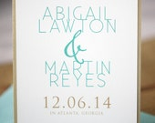 Wedding Save the Dates - Abigail Save the Date Card