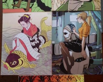 Five Print Set by Natalie Nourigat