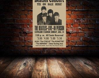 Beatles 1966 Cleveland Concert Poster