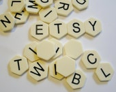Alphabet Tiles set of 20 Hexagonal Tiles