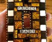 Peace Baby and Sleep Tight Custom Mosaic Tile Light Switch Covers