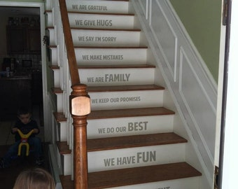 Top In Our Home Stairs Stairway Vinyl Decal Vinyl Decal Home Decor Door  Wall Lettering Words Quotes With Stair Decor