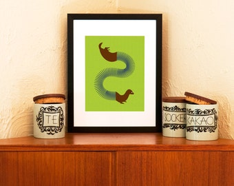 Ferret Oh Ferret - Slinky-Animal Hybrid 8 x 10 Art Print (Free Shipping in US)