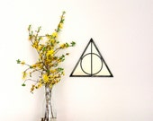 Triangle Circle Wall Mirror Geometric / Handmade Wall Mirror Pyramid Deathly Hallows Harry Potter
