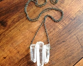 Triple Crystal Point Necklace