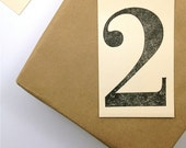 Number Tags - Super Large Jumbo - Table Number Tags - Manilla Shipping Tags