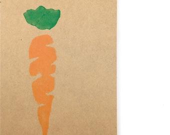 Easter Carrot Note Cards - Blank Stationery - Gardening - Vegetable Garden