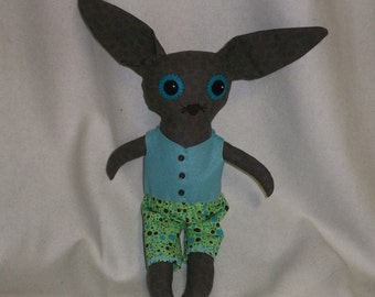 Clarence the Big Eyed Rabbit Doll
