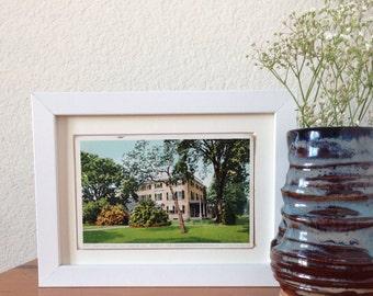 Home of James Russell Lowell, Cambridge, Massachusetts - framed vintage postcard