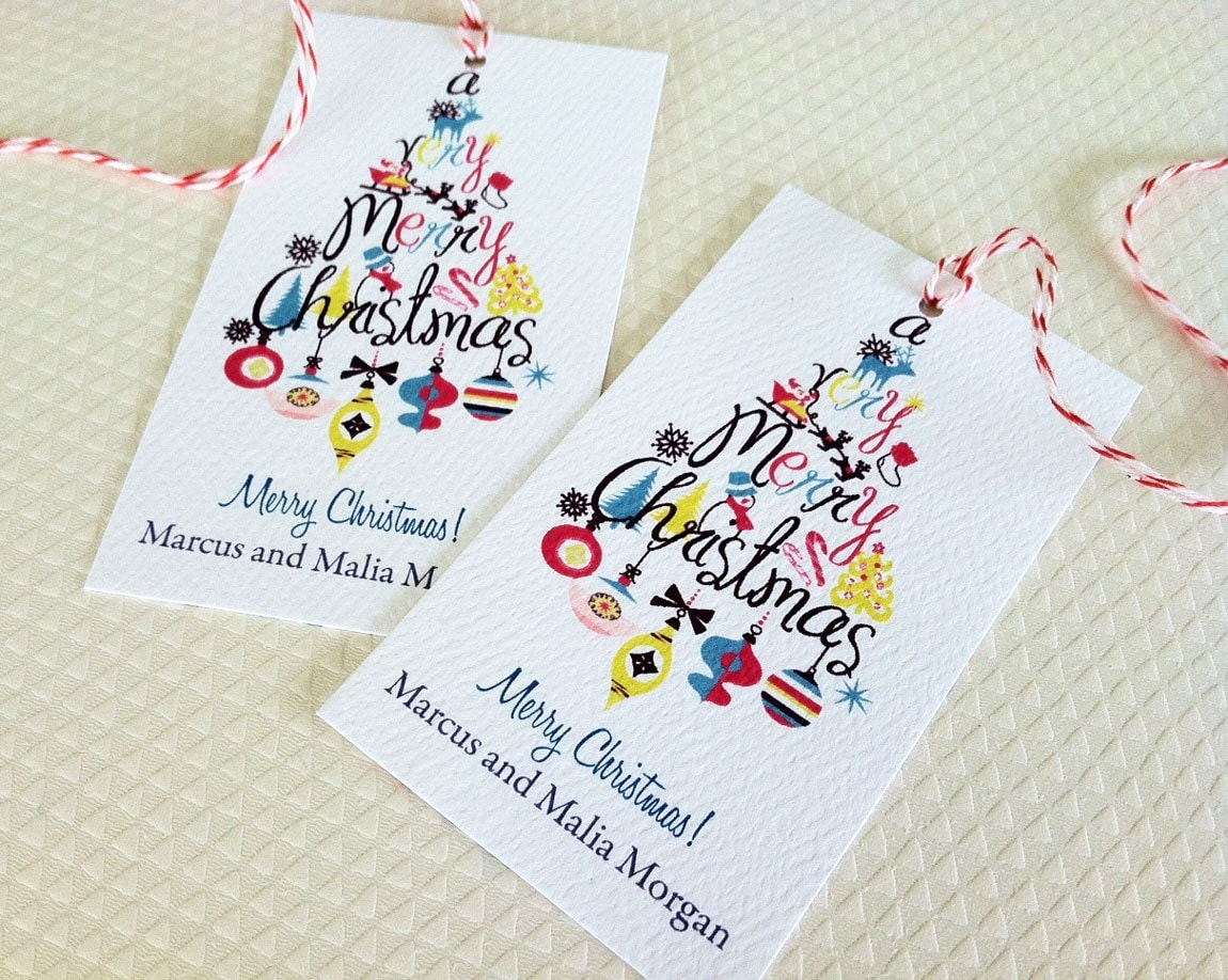 Christmas Tags: Christmas Gift Tags Personalized Holiday Tags Gift Tags Set