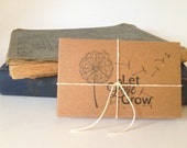Seed Wedding Favors. Let Love Grow. Set of 10 with Custom Stamp. Eco-Friendly Wedding Gifts. Garden Wedding Favor.
