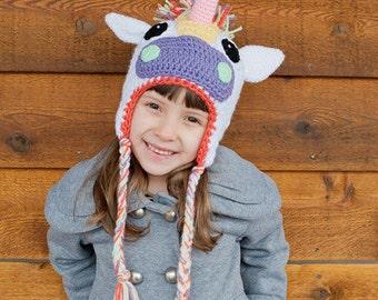 Crochet Pattern - Unicorn Hat and Horse Hat