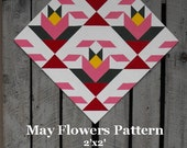 Painted Wood Barn Quilt, May Flowers Pattern