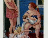 """Acrylic Painting PRINT, Family, Mother and Child, Fine Art Giclee Print of Original Painting  8X10 Hand-signed,""""A Certain Dignity"""""""