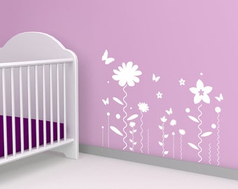 Vinyl Wall Decal Sticker Flower Squiggles 1126s