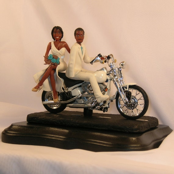 motorcycle couple wedding cake topper items similar to motorcycle wedding cake topper with 17606