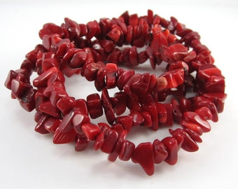 Dyed Red Coral Chips