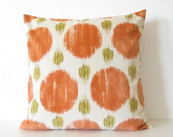 Pillow SALE Polkaspot Ikat Microfiber Desert Orange decorative pillow cover